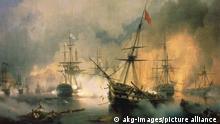 Gemälde Seeschlacht bei Navarino   Iwan Konstantinowitsch Aiwasowski