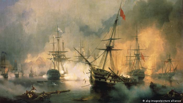 Gemälde Seeschlacht bei Navarino | Iwan Konstantinowitsch Aiwasowski