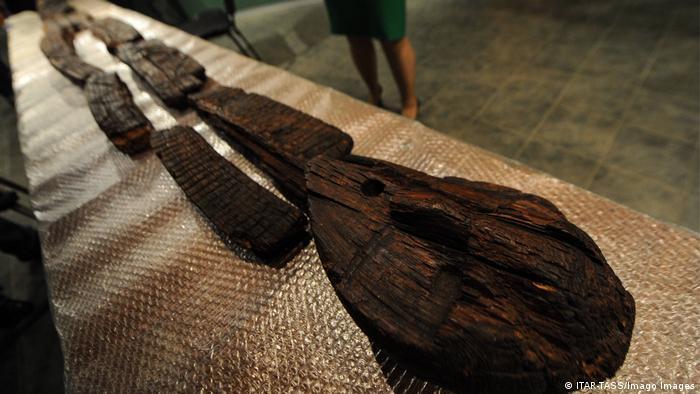 Russland Shigir Idol die älteste Holzskulptur der Welt