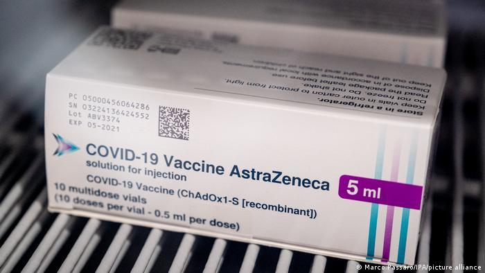 Упаковка вакцин AstraZeneca