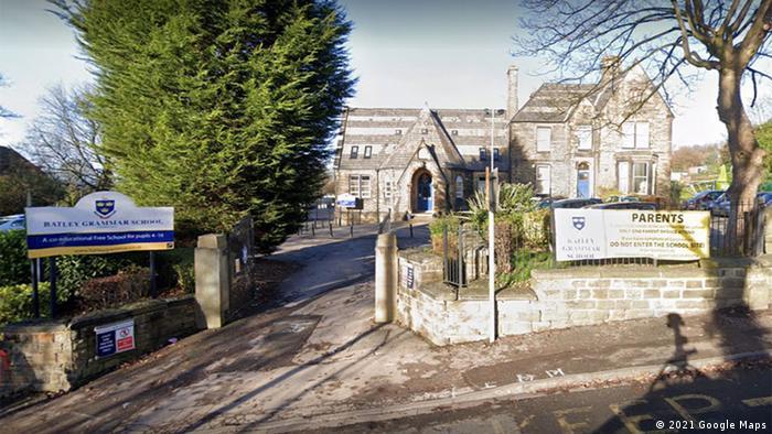 Großbritannen Batley Grammar School in West Yorkshire