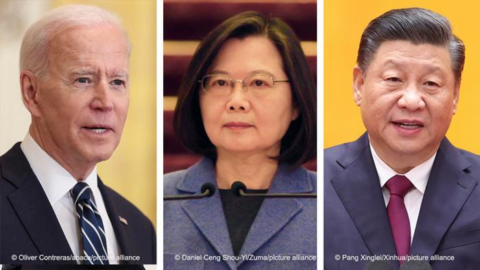 Bildkombo Joe Biden Tsai Ing-wen Xi Jinping