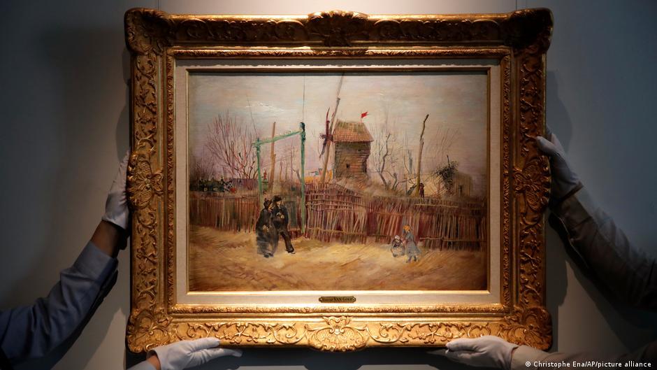 創作於1887年的《蒙馬特街景》(Scène de rue à Montmartre)