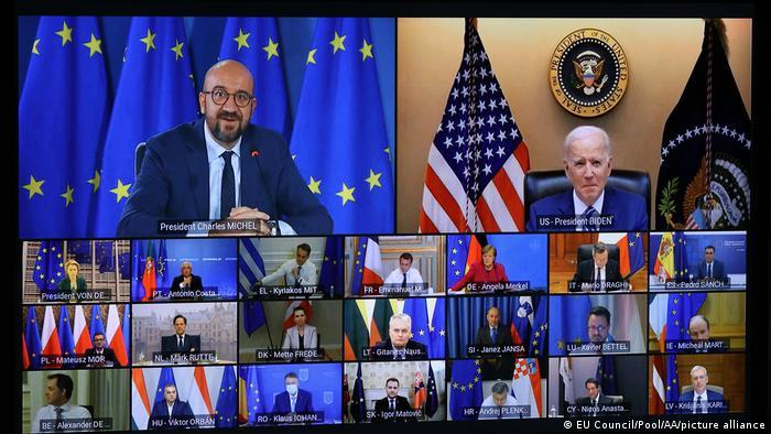 Weltspiegel | 26.03.2021 | EU Gipfel mit US Präsident Biden | Tableau