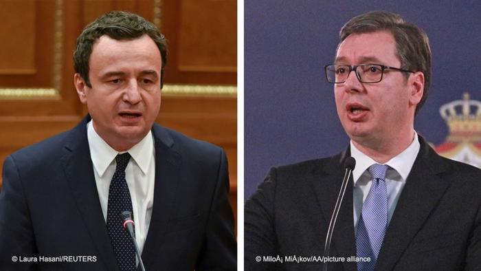 Bildkombo Albin Kurti und Aleksandar Vucic