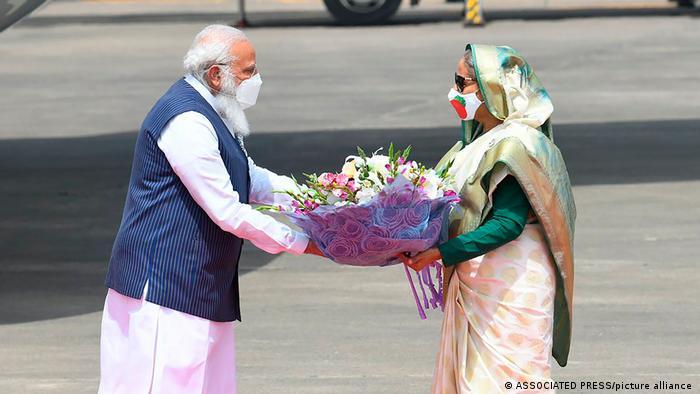 Bangladesch Narendra Modi zu Besuch Indien Sheikh Hasina Dhaka
