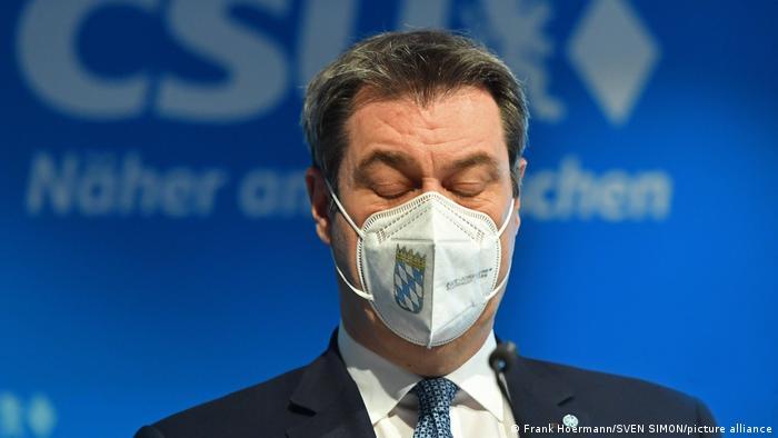 Markus Söder mit FFP2-Maske