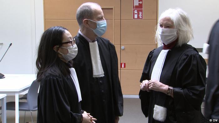 Advogados durante processo do Affaire Climat em Bruxelas