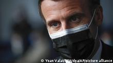 Frankreich Corona-Pandemie | Präsident Emmanuel Macron