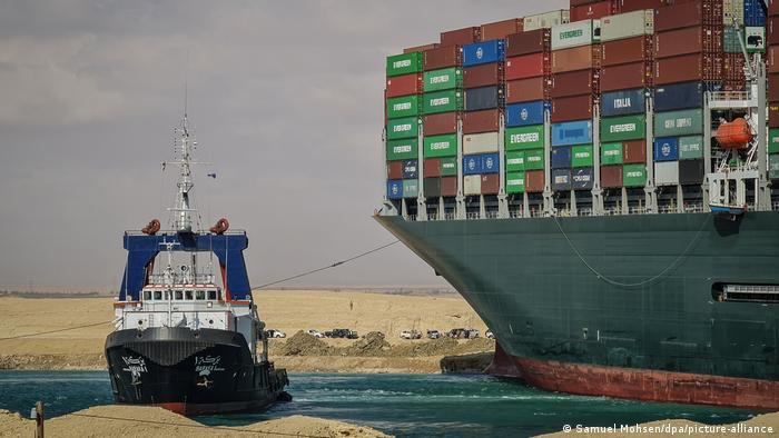 Ägypten   Suezkanal blockiert   Containerschiff Ever Given