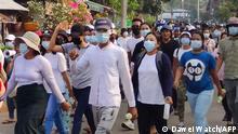 Myanmar Dawei | Proteste gegen Militärregierung