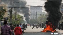 Myanmar Mandalay | Proteste gegen Militärregierung