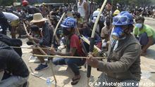Myanmar Rangun | Proteste gegen Militärregierung