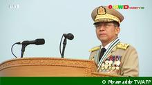 Myanmar Naypyidaw | Parade zum Tag der Streitkräfte | General Min Aung Hlaing