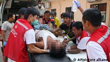 Myanmar Proteste gegen Militärputsch | Verletzter