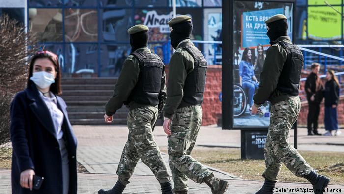 Милиция на улице в Минске