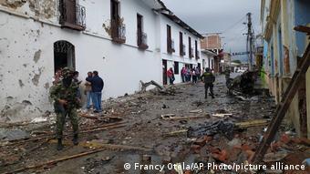 Una explosión por un autobomba en Corinto, Cauca, marzo 26, 2021