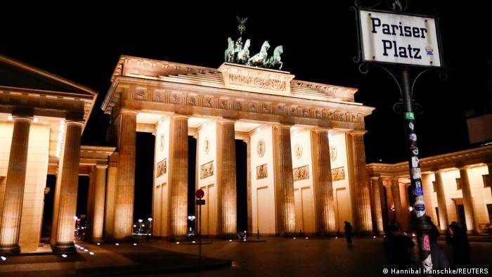 Das illuminierte Brandenburger Tor