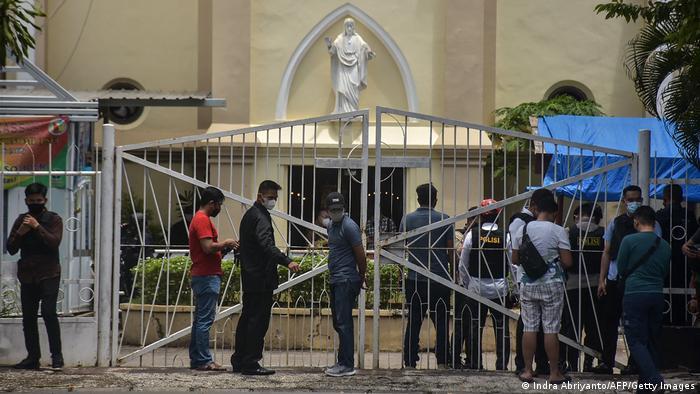 Zu der Gewalttat kam es vor dieser Kirche in der Hafenstadt Makassar in der indonesischen Provinz Süd-Sulawesi
