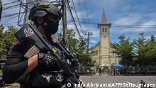 Indonesien Makassar | Explosion in Kirche