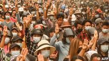 Myanmar Monywa | Proteste gegen Militärregierung