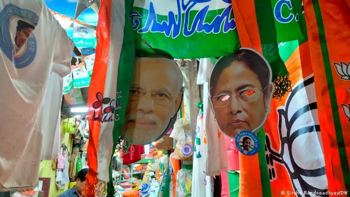 Indien Kalkutta   Wahlkampfmaterial