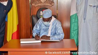 Nigeria Präsident Muhammadu Buhar und Idriss Déby Itno Tschad