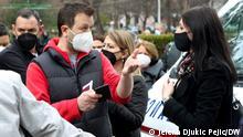 Serbien Nis | Bürger aus Westbalkanregion warten auf Impfung