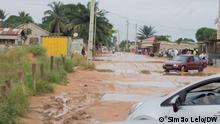Zufahrtsstraße im bevölkerungsreichsten Stadtteil Chiweca, in Cabinda, die noch nicht gebaut wurde. Datum: 25.03.2021 Ort: Cabinda, Angola Rechte: Simão Lelo, Korrespondent der Deutschen Welle