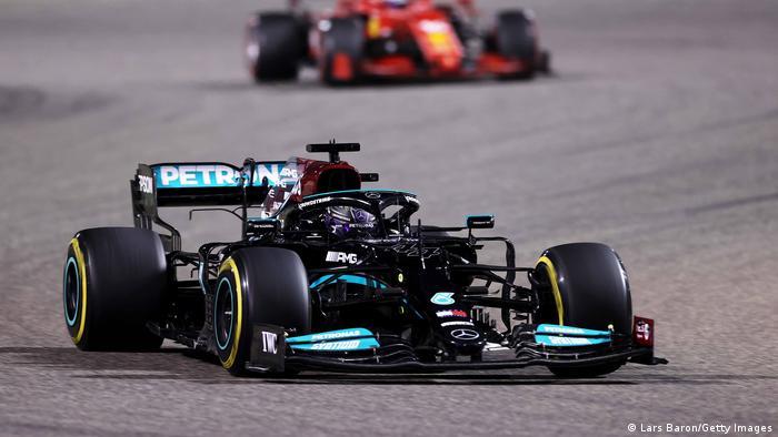 Lewis Hamilton driving for Team Mercedes