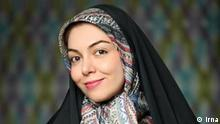 Azadeh Namdari   iranische Moderatorin Quelle: Irna Agency