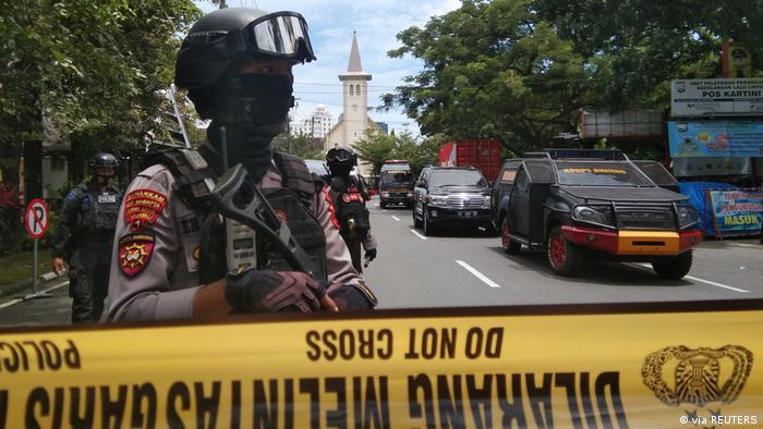 Indonesien Makassar |Anschlag vor katholischer Kirche