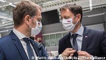Slowakischer Ministerpräsident besucht VW-Werk Bratislava