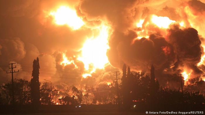 Explosion at Balongan oil refinery