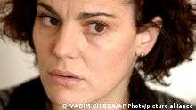 Romanian actress Maia Morgenstern looks on during an interview with the Associated Press in Bucharest Romania, Monday Feb. 2 2004. Morgenstern who plays Mary in Mel Gibson's passion-stirring Biblical epic 'The Passion of the Christ