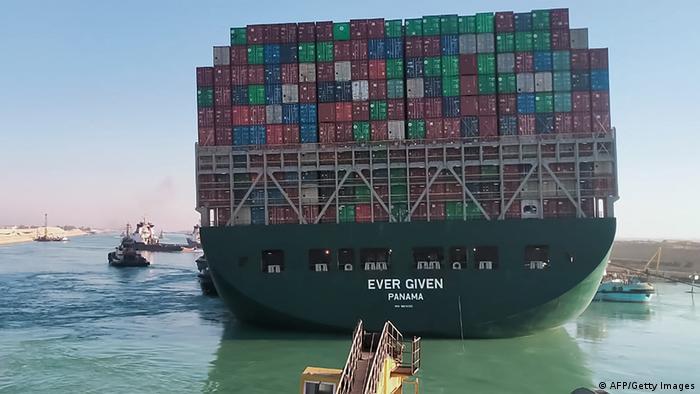 Ägypten Containerschiff Transport Suezkanal Ever Given