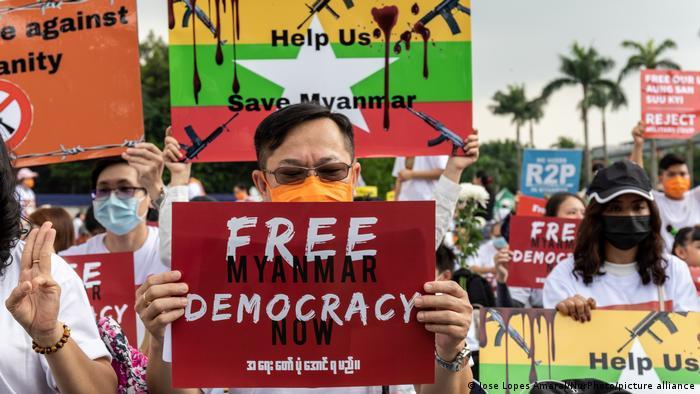 Myanmar - Taiwan | Solidaritätsprotest in Taipeh