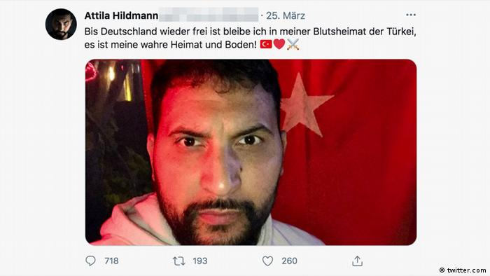 Attila Hildmann bestätigt via Twitter, dass er sich in der Türkei aufhält