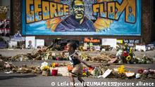 December 21, 2020, Minneapolis, MN, USA: The George Floyd memorial outside Cup Foods in Minneapolis, in June 2020. (Credit Image: © TNS via ZUMA Wire