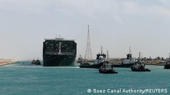Ägypten   Suez Kanal - Ever Given