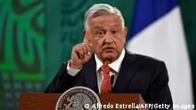 Mexiko | Andres Manuel Lopez Obrador hält Rede während dem Generation Equality Forum