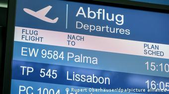 Deutschland Abflug Palma Flughafen Düsseldorf