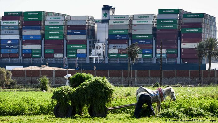 Ägypten Suezkanal Containerschiff Ever Given