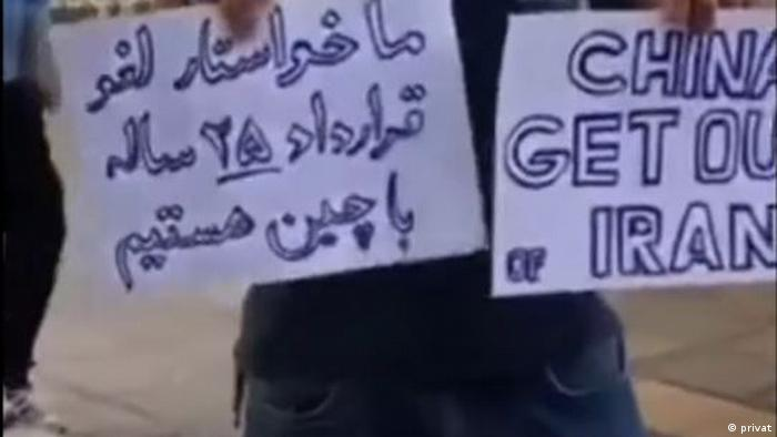 Protest gegen Iran-China Vertrag