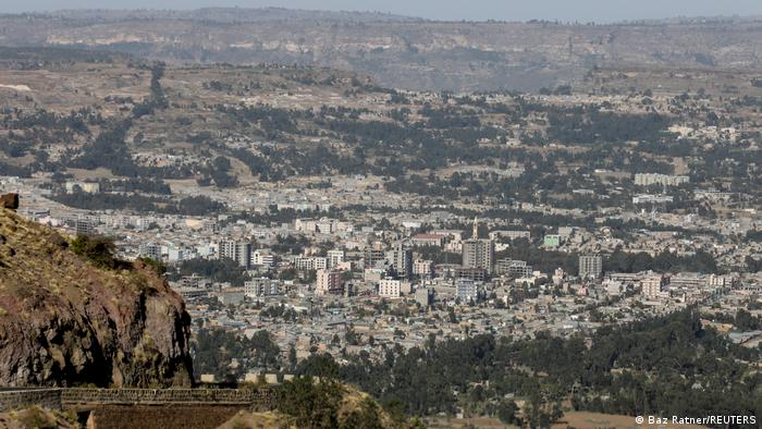 A general view shows the town of Adigrat, Tigray region