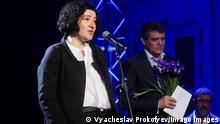 MOSCOW, RUSSIA - DECEMBER 4, 2018: Writer Maria Stepanova at the 2018 Big Book awards ceremony at the Pashkov House. The Big Book prize is Russia s largest literary award and the second largest in the world. Vyacheslav Prokofyev/TASS PUBLICATIONxINxGERxAUTxONLY TS099C9B