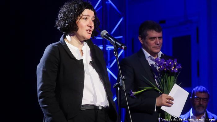 Мария Степанова на вручении премии Большая книга, декабрь 2018 год