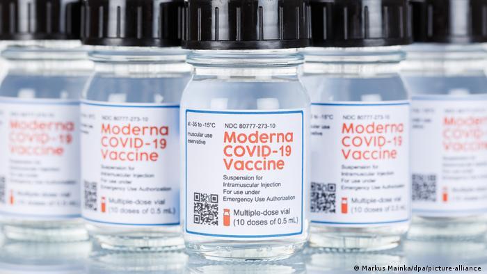 Ampola da vacina Moderna