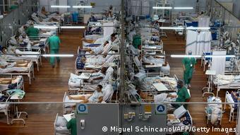 Переполненная больница в Бразилии