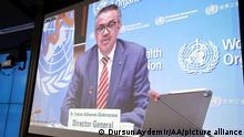 Pressekonferenz Tedros Adhanom Ghebreyesus, Direktor WHO